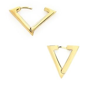 Adia Kibur Nordstrom Gold Triangle Hoop Earrings